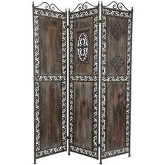 Oriental Furniture Antiqued European Style Screen, 69-Inch Ivy Design Wood and Metal Decorative Room Divider by ORIENTAL FURNITURE, http://www.amazon.com/dp/B006JQGH88/ref=cm_sw_r_pi_dp_7NMUrb1X5FXHD