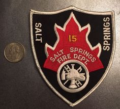 Salt Springs Florida Fire Department Firefighter Paramedic Patch Marion County