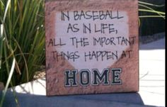 Home plate for wedding