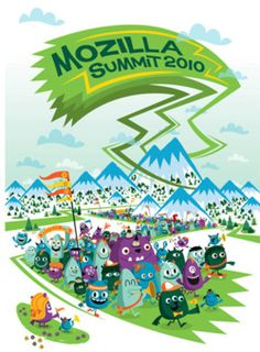 Mozilla SummitEvent illustration for Mozilla summit 2010 - Peskimo