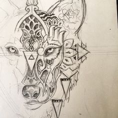 Almost finished @tommyhinchcliffe then I'll mirror the other side! #tattoo #wolf #mandala #instagood #instaart #instagramart #art #artstudent #artclass #artoninstagram #wip #workinprogress #animal #reynardreveries #artanddesign #design #illustration...