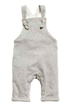 Jersey-lined dungarees