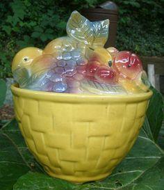 Vintage Shawnee Fruit Basket Cookie Jar - 1950's   | eBay