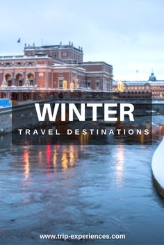 Winter Travel Destinations:You can travel to places because crowds are smaller,off-season is cheaper,others are nice for xmas & snow or might even be sunny. Travel Tips, Travel Destinations, Winter Travel, Places, Road Trip Destinations, Travel Advice, Destinations, Travel Hacks, Lugares
