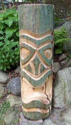 Beave's Tikis - Custom Carved Tikis by Chad Davis from Detroit Michigan