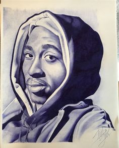 tupac, 2pac, rap, art, music, drawing, sketch, portrait