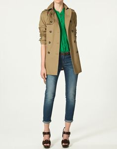 Double breasted trench coat #zara  I want this whole outfit.