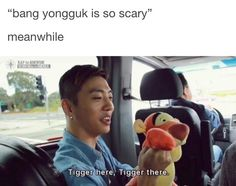 How is Bang Yongguk scary when he says stuff like this?