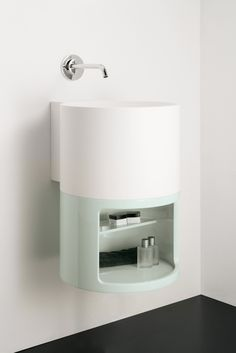 integrated item available in different materials and collection by Inbani. Compact Bathroom, Bathroom Toilets, Small Bathroom, Bathroom Furniture, Home Furniture, Washbasin Design, Sink Design, Bathroom Trends, Vanity Units