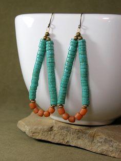 Tribal Earrings Hoop Earrings