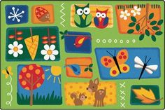 The Carpets for Kids Faces of Nature Preschool Rug is an excellent learning tool for toddlers and early schoolers. Simple and sweet, these cuddly animals on the green carpet will bring warmth to any child's room. Preschool Furniture, Carpets For Kids, Holiday Crafts For Kids, Summer Crafts, Baby Room Rugs, Green Carpet, Classroom Activities, Classroom Rugs, Preschool Classroom