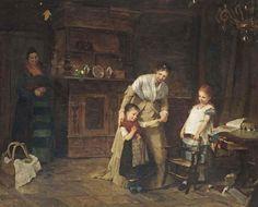 Bertha Wegmann (Danish, 1847-1926) New friends signed, inscribed and dated 'Bertha Wegmann Munchen 1875' (lower left) oil on canvas 33½ x 40¼ in. (82.7 x 102.3 cm.)