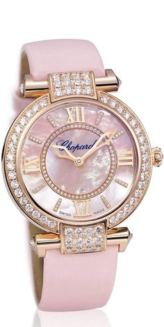Rosamaria G Frangini | High Whatch Jewellery | Chopard Light Pink Watch