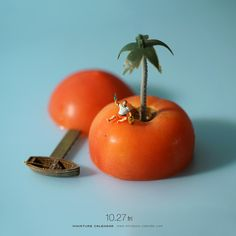 """Tomato Island. """"When staying at Tomac Island!"""""""