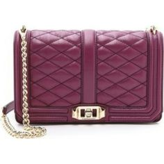 "*1 DAY SALE* Rebecca Minkoff love crossbody Rebecca Minkoff love crossbody in the color plum with gold hardware. This color is sold out. Great color for all seasons. Worn once. In mint/like new condition. Comes with dustbag and tags.   Look in my closet for additional pics.  10""W x 6"" H x 3.5""D 23"" adjustable detachable shoulder strap drop Genuine leather Flap closure with turn lock One exterior slip pocket One interior card slip pockets  No trades. Rebecca Minkoff Bags Crossbody Bags"