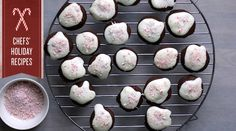 not the prettiest, but these chocolate candy cane button cookies sound great!