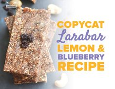 Make your own raw bars packed with blueberries, lemon, and raw cashews!