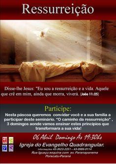 """A minha esperança é Jesus!: Participe 06 de Abril Inicio do """"CAMINHO DA RESSUR..."""
