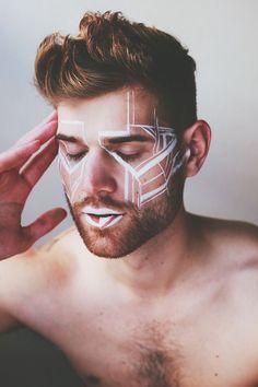Bildergebnis für men festival makeup
