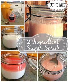 DIY 2 Ingredient Sugar Scrub