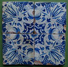 Dutch tile 17th century Delft