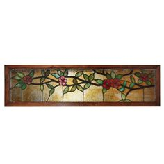Fanciful Antique American Stained Glass Transom, c. 1900's - Preservation Station, Nashville, TN