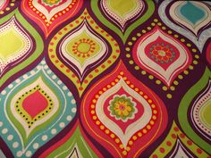 Let's Party Fabric ~ NICE~RETRO!!~~~~  1/2 Yard #BrotherSisterDesigns