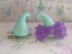 Mint Kawaii Pastel Goth Girly Polymer Clay by SalmonHouseEmporium