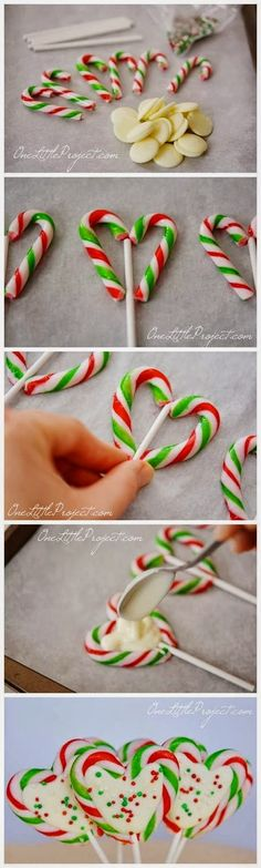 Candy Cane Hearts - Include the kids in your #OneNote Cookie Swap with this easy treat that's also a craft! Learn more about how to save and share your recipes on all your devices at www.onenote.com