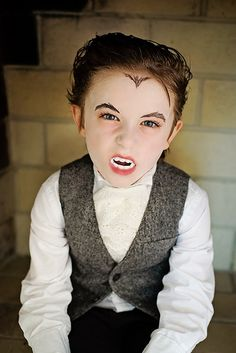 Atticus took quite a while deciding what to be for Halloween this year but when he settled on being a vampire for the Trunk or Treat at c. Kids Vampire Makeup, Vampire Kids, Black Vampire, Vampire Party, Kids Makeup, Halloween Vampire, Halloween Makeup, Dracula Costume, Vampire Costumes