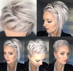10 Beautiful modern short hairstyles for women - Kurze Frisuren - Hairdos Ideas Modern Short Hairstyles, Braided Hairstyles, Cool Hairstyles, Pixie Wedding Hairstyles, Hairstyle Ideas, Bob Hairstyles How To Style, Scarf Hairstyles Short, Ladies Hairstyles, Beautiful Hairstyles
