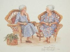 """Sharing Memories""...Carolyn Shores-Wright ** I ALWAYS WANTED TO WRITE A SKIT/STORY WHERE 2 OR 3 OLD LADIES WERE SITTING IN ROCKING CHAIRS TALKING ABOUT OLD TIMES & THEN THEY STOP TALKING & OTHER PEOPLE ACT OUT A PORTION OF IT & THEN THE OLD LADIES TALK AGAIN & LEAVE OFF & ANOTHER SECTION OF THEIR MEMORIES IS ACTED OUT"