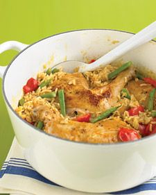 spicy coconut chicken casserole- love the rice and chicken one-pot dishes.