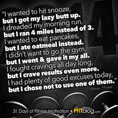 Health Inspiration Determined: I need to read this every day b/c I'm having a hard time getting out of bed in the mornings to get in my runs in this hot weather. Need motivation. Sport Motivation, Fitness Motivation Quotes, Health Motivation, Weight Loss Motivation, Fitness Tips, Workout Motivation, Swimming Motivation, Fitness Wear, Fitness Goals