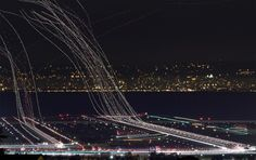 Long exposure photography - plane style! Why didn't I think of this....