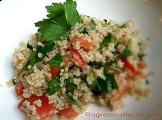 Gluten-Free Quinoa Tabouli Salad http://progressivenectar.com/nut-free/