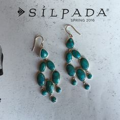 Silpada Earrings Silpada Vieques Earrings. French Wire Drops. Compressed Turquoise, Sterling Silver. Silpada Jewelry Earrings