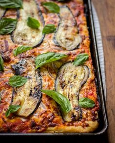 Sicilian Pizza with Eggplant