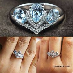Would you like to try this natural 925 silver platinum plated crown ring?...