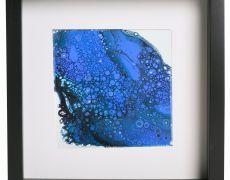 Tablou original acrylic albastru