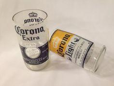 Corona Beer Glasses  Repurposed Beer Bottles  by RecastGlass, $12.49