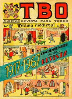 TBO-Portadas antiguas de TBO-Tebeos antiguos-Rafael Castillejo-Zaragoza en la memoria- Vintage Comic Books, Vintage Comics, Medieval, Animal Crossing, Reading, Kiosk, Lisbon, Vintage Ads, Vintage Posters