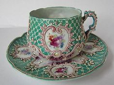 Old Nippon Moriage cup and saucer