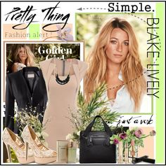 """Simple. Blake Lively."" by fashiontake-out on Polyvore"