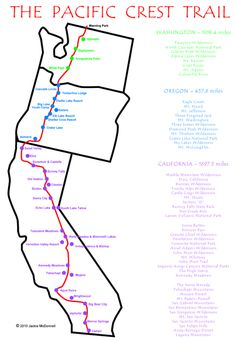 Pacific Crest Trail Route, photos, history & more
