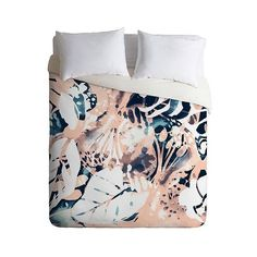 Deny Designs Cayenablanca Jungle Memoirs Lightweight Duvet Cover ($126) ❤ liked on Polyvore featuring home, bed & bath, bedding, duvet covers, pink, pink king size bedding, deny designs bedding, deny designs, jungle bedding and pink bedding