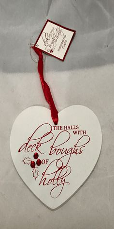 DECK THE HALLS HEART HANDCRAFTED PLAQUE