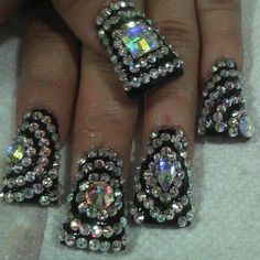 Mother of all blings! This is going on my ring fingers for my wedding WOW