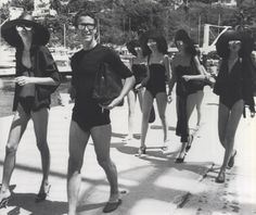 Halston & his Halstonettes on a publicity tour for Braniff Airlines.  Acapulco 1976    → 1 Comment  Posted in Candids  Tagged Acapulco, Braniff Airlines, Halston, Halstonettes
