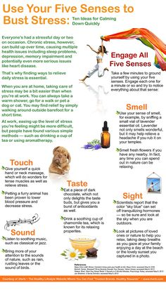 Use Your Five Senses to Bust Stress (Infographic)